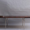 Fine French 1950s Extendable Chrome and Rosewood Table by Alain Richard