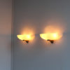 Pair of Fine French Art Deco Glass and Bronze Sconces by Jean Perzel