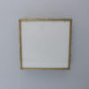 Fine Square Brass and Glass