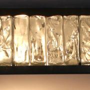 1809-Plafonnier Perzel collier de la reine carre dore grand 23