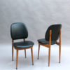 12 French 1960s Beech and Naugahyde