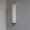 Fine French Art Deco Chrome and Glass Sconce by Perzel