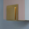 4 French Art Deco White and Pink Glass Wall Lights by Jean Perzel