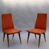 Set of 6 French 1950s Beech Chairs