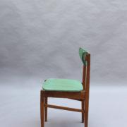 23- 1824 -4 chaises 50's vert d'eau (3)