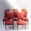 Set of 8 Fine French Art Deco Dining Chairs by Jules Leleu