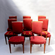 1766a-6 chaises et 2 fauteuils SM Leleu table soleil00004