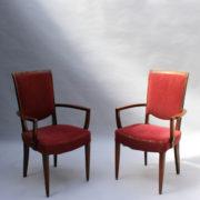 1766a-6 chaises et 2 fauteuils SM Leleu table soleil00007