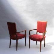 1766a-6 chaises et 2 fauteuils SM Leleu table soleil00008