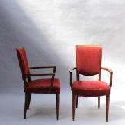1766a-6 chaises et 2 fauteuils SM Leleu table soleil00009