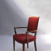 1766a-6 chaises et 2 fauteuils SM Leleu table soleil00011