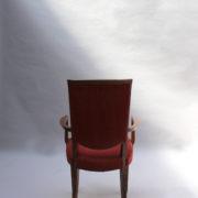 1766a-6 chaises et 2 fauteuils SM Leleu table soleil00014