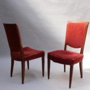 1766a-6 chaises et 2 fauteuils SM Leleu table soleil00022