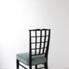 Set of 10 Fine French Art Deco Black Lacquered Chairs by Dominique