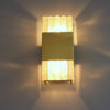 A Fine French Art Deco Bronze and Slabs Glass Sconce by Jean Perzel