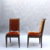 Set of 10 French Art Deco Mahogany Chairs by Gaston Poisson (8 Side and 2 Arm)