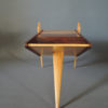 Fine French 1950s Rosewood and Sycamore Side Table / Magazine Rack