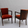 Set of 6 Fine Art Deco Chairs by De Coene (4 Side and 2 Arm)