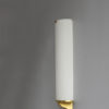 French Art Deco Semi Cylinder Glass and Bronze Sconces by Jean Perzel