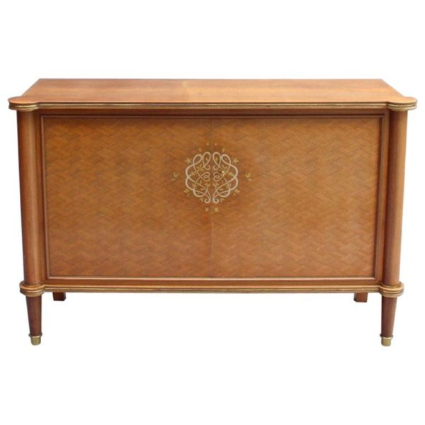 Fine French Art Deco Palisander and Marquetry Buffet / Commode by Jules Leleu
