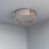 Fine Rare French Art Deco Pink and White Glass Ceiling Light by Perzel