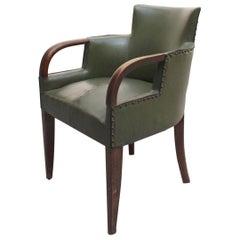 Fine French Art Deco Desk Arm Chair by Dominique