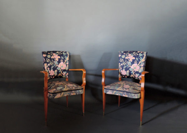 A pair of French Art Deco Armchairs