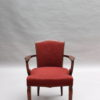 Fine French Art Deco Mahogany Armchair by Jules Leleu