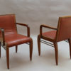 Set of 8 Fine French art Deco Dining Chairs by Albert Guenot for