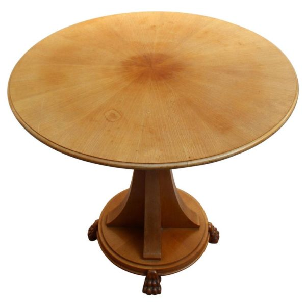 A Fine French Art Deco Elm Guéridon by Chaleyssin
