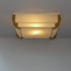 Fine French Art Deco Bronze and Glass Flush Mount by Jean Perzel