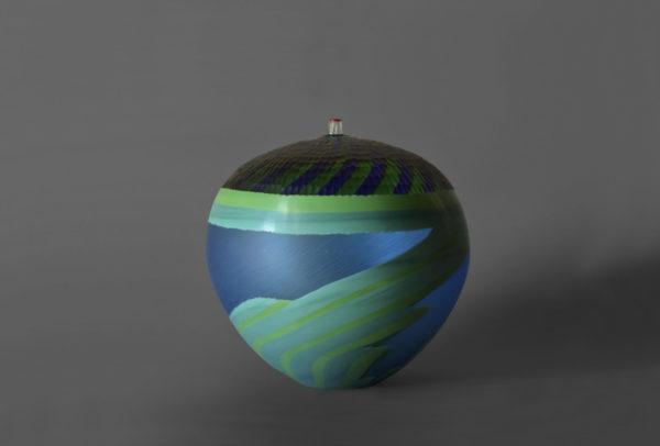 A Fine Italian Hand blown Murano Vase by Andrea Zilio