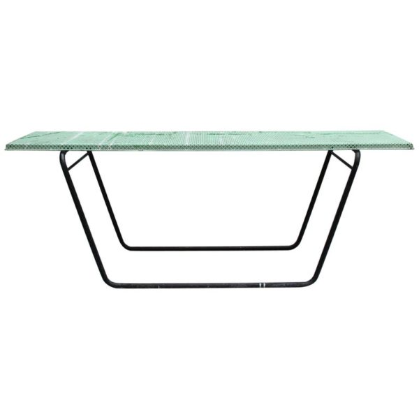 French 1950s Perforated Metal Console in the Style of Mathieu Mategot