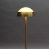 Fine French 1950s Brass and Glass Floor Reading Lamp by Jean Perzel