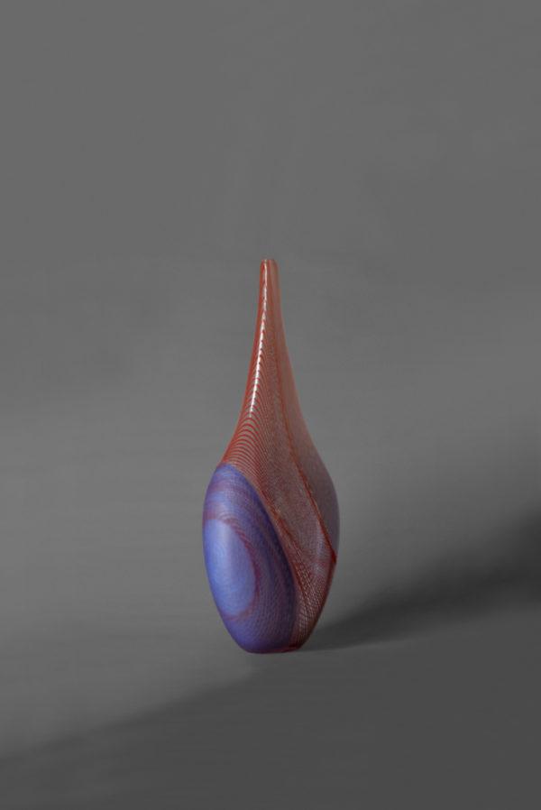 A Fine Italian Hand blown Murano Vase by Davide Salvadore